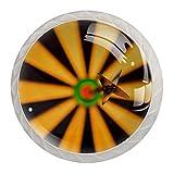 Freccette Bulls Eye Sports, pomelli per cassetti e armadietti, per cucina, armadio, camera da letto, comò, mobili da bagno (confezione da 4)