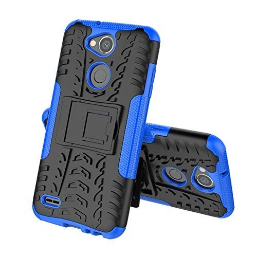 JiuRui-504 kuaijiexiaopu Fundas para LG X Power 3, Soporte para teléfono, Stand Shells Cubre la Caja de Silicona de Armadura de Doble Capa para LG X Power 3 6.0' (Color : Blue)