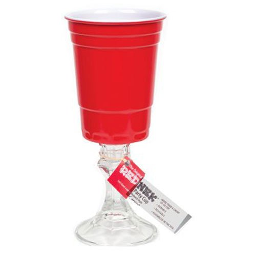 Carson Home Accents The Original Red Nek Red Party Cup with Clear Base, 16-Ounce