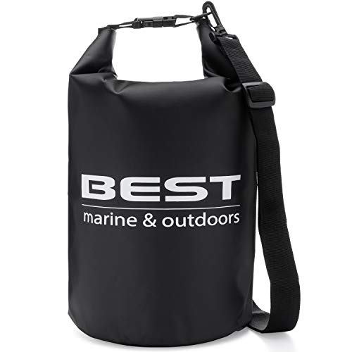 Best Marine Kayak Waterproof Dry Bag. 15 Liter Water Resistant Drybags for Kayaking, Boating, Hiking, Camping, Fishing and All Water Sports. Storage Accessories to Keep Your Gear Dry