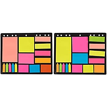 Divider Sticky Note Set with Index Tabs Bookmark Stickers Memo Flag  2 Pack