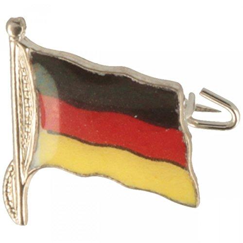 Hutanstecker | Hutabzeichen | Hutschmuck | Anstecker – Deutschland Fahne aus Messing – 1,5 x 1,5 cm - MADE IN GERMANY