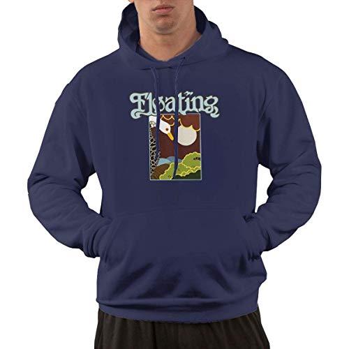 Tengyuntong Hombre Sudaderas con Capucha, Sudaderas, Men's Pullover Hooded Sweatshirt - Floating