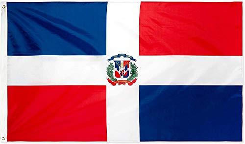 Ericraft Bandera Dominicana Grande 90x150cms Bandera de Republica Dominicana de balcón para Exterior Reforzada y...