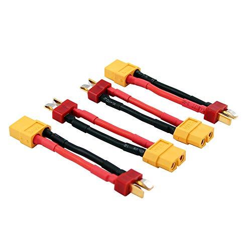 OliRC 4 Piezas XT60 Hembra a Macho T Conector ENA - Adaptador...