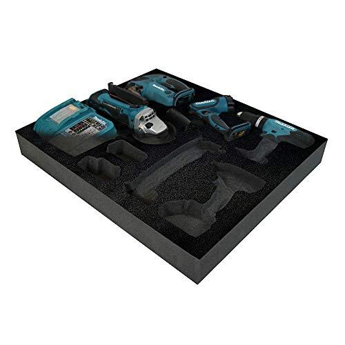Shadow Foam - Schwarz - Werkzeugkiste Organisation | Schaumstoffeinlage (50mm)