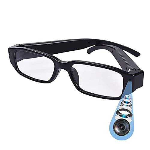 Wireless Spy Hidden Camera Glasses WiFi Home Security Nanny Camera with Night Vision,160 Ultra Wide Angle,Motion Detection