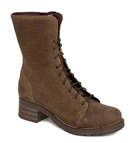 Brako Stiefel Boots 8470 Tina/Abey Taupe braun Military Nubuk Leder (40 EU)