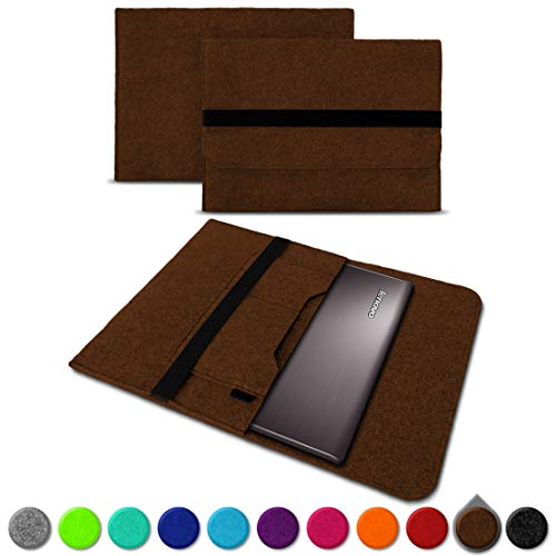 UC-Express Sleeve Hülle für Lenovo Thinkpad Yoga 370 Tasche Filz Notebook Cover Laptop Hülle, Farbe:Braun