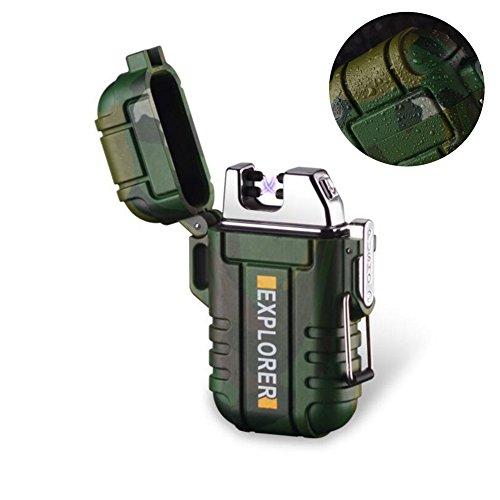 Kywa Wasserdichtes USB Dual Arc Wiederaufladbares Feuerzeug Winddicht Plasma Feuerzeug für Zigaretten Outdoor Aktivitäten