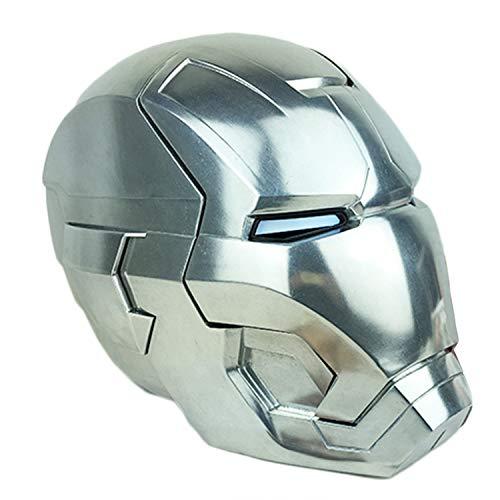 QWEASZER Iron Man all Metal Casco elettronico Maschera, Marvel Avengers 4 Supereroe Figura caschi Testa Maschere di Halloween Film Cosplay Deluxe Edition,C/A