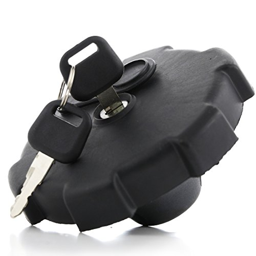 Neuf Noir de réservoir à capuchon de réservoir à essence 80 mm W/2 clés