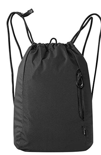 No Doubt rawstring Bag Gym Sports Bag - Drawstring Backpack for Women and Men, School Swimming Yoga PE Rucksack with Waterproof Nylon Fabric and Foldable