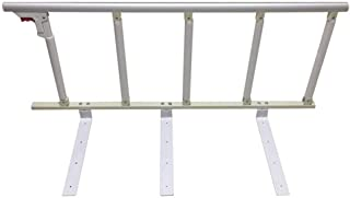 FCXBQ Side guard for portable bed and protective fence for the elderly  adults and railing Handrail for handicapped bed  folding metal guard for hospitals  120  Size  120 0026  cm