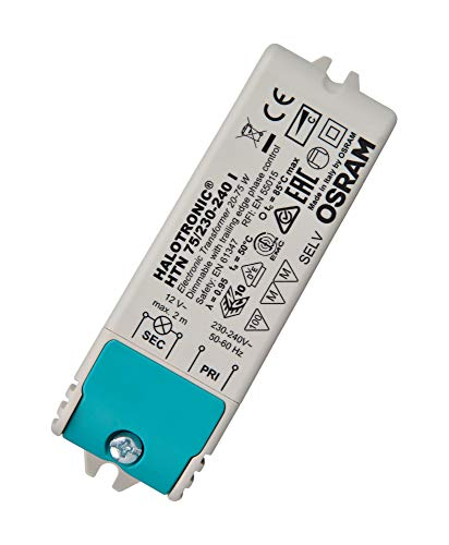 Trafo für LED und Halogenlampen 12 Volt 20-75 Watt HTN 75 I Halotronic - Osram
