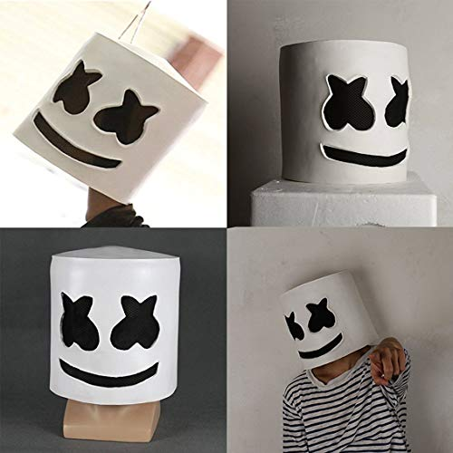 Pgige Moda Fiesta de Halloween Club Nocturno Látex Máscara Blanca ...