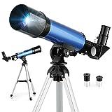 Télescope Astronomique, Télescope Enfants F36050M, avec Oculaires H6mm et H20mm, Trépied Portable en Aluminium(36cm), Télescope Réfracteur d'Observation Lune-Étoile pour Enfants