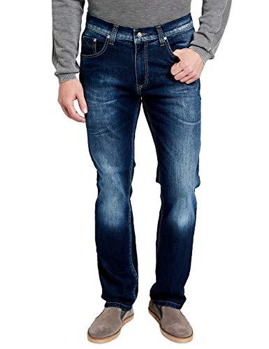 Pioneer Herren Rando Straight Jeans, Blau (Dark Used with Buffies 444), W33/L36 (Herstellergröße: 3336)