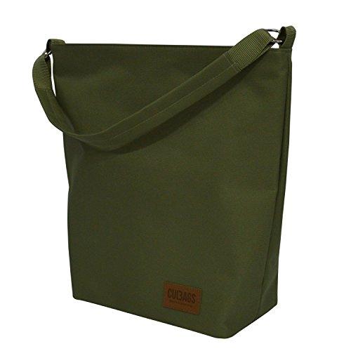 C-BAGS Shopper Bag Classic Gepäckträger Fahrradtasche Tasche (Olive)