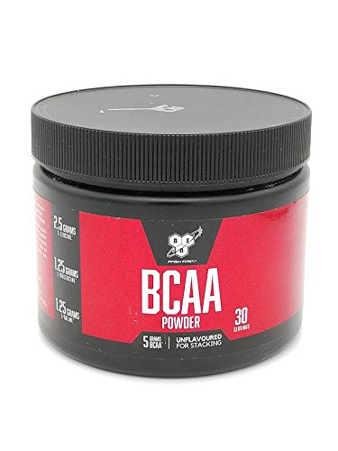 BSN BCAA Powder 171g – 5g of BCAAs per Serving in The Optimal 2:1:1 Ratio. Unflavoured, Vegetarian and Vegan Friendly. Exercise Supplement Designed for Performance