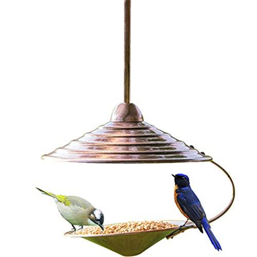 Mangeoire extérieure For l'extérieur Hanging Décoration oiseaux Table autoportant ouvert traditionnel métal Mangeoire Maison Cour Chalet Nettoyage facile et Recharges Mangeoire Outil d'alimentation po