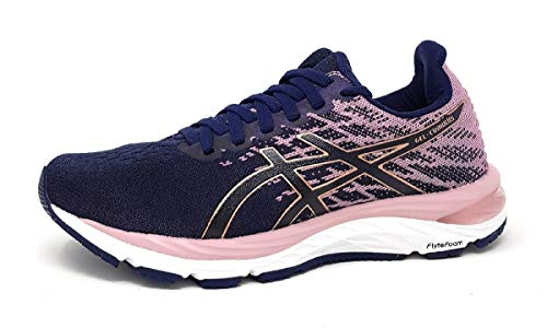 ASICS Damen Cumulus 21 Knit Traillaufschuh, Peacoat/Rose Gold, 39.5 EU