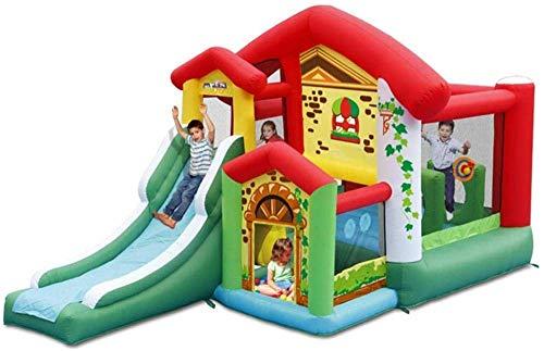 FGVDJ Castillo Inflable y tobogán, Patio de Juegos al Aire Libre Hogar Trampolín Tobogán Multifuncional para niños Colores del Parque Infantil 475 * 260 * 260cm