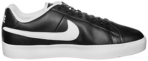 Nike Men's Court Royale Lw Leather Fitness Shoes, Black, White, 11 UK