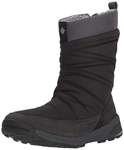Columbia Damen Meadows Slip-on Omni-heat 3d Schneestiefel, Schwarz (Dark Stone 010), 39 EU