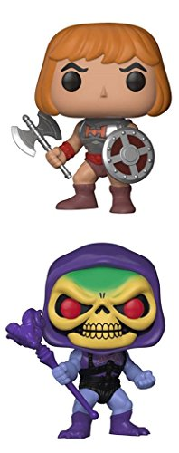 FunkoPOP Masters Of The Universe: Battle Armor He-Man + Battle Armor Skeletor - Cartoon Vinyl 2 Figure Bundle Set NEW