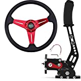 RASTP Universal Racing Steering Wheel with 64Bit PC USB Handbrake SIM for Racing Games Logitech G27 G25 G29 T500 T300 FANATECOSW LFS DIRT RALLY.2