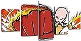 Póster de personaje de puño rojo de dibujos animados 5 uds decoración de pared moderna para el hogar cuadro de lienzo artístico estampado en HD pintura sobre lienzo para decoración de sala de estar