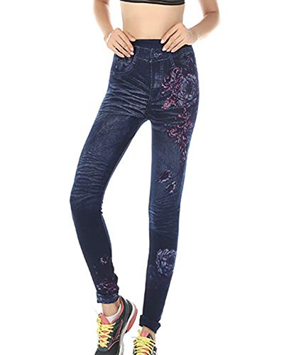 GladiolusA Leggings Leggins Jeans Push Up Cintura Alta Jeggings Vaqueros Pantalones Elásticos para Mujer