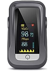 Saturimetro Da Dito, Pulsossimetro Professionale con Omnidirezionale TFT Display con Letture Immediate Ossimetro per Saturazione di Ossigeno(SpO2), Frequenza Del Polso(PR), per Adulti e Bambini