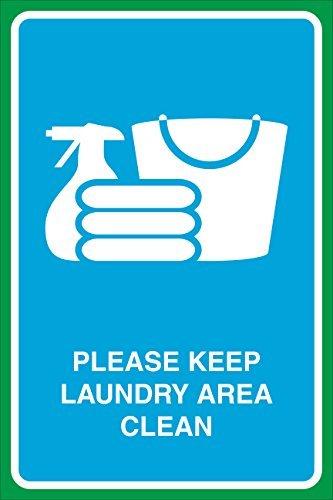 Houd Wasserij Gebied Schoon Print Gevouwen Kleding Handdoeken Emmer Cleaner Foto Zakelijke Venster Thuis Muur Teken