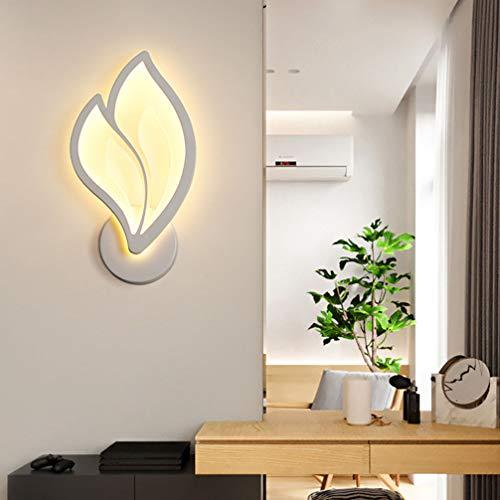 Lámpara de pared LED de diseño creativo lámpara de pared interior moderna luz de acrílico pantalla iluminación para dormitorio, sala, cocina, habitación de niñas, lámpara para mesita de noche (3000 K)