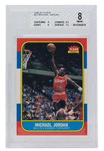 Michael Jordan 1986 Fleer #57 Chicago Basketball Card BGS NM-MT 8 876