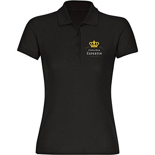 Multifanshop Costa Rica Expertin Poloshirt zwart dames maat S tot 2XL