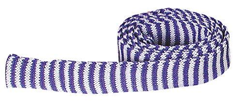 Manchon tricot bicolore, l 3 cm x L 100 cm Bleu/Blanc