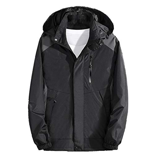 Best Deals! Men's Waterproof Ski Jacket Plus Size Zipper Warm Winter Snow Coat Mountain Windbreaker ...
