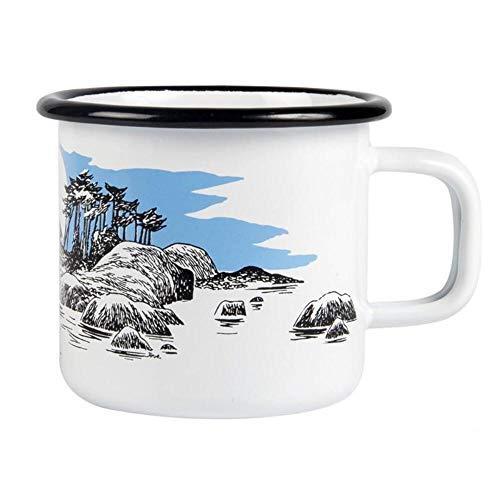 Muurla - Mumin - Becher Kaffeebecher Teebecher - Emailletasse - Moomin Island - Emaille - 370 ml