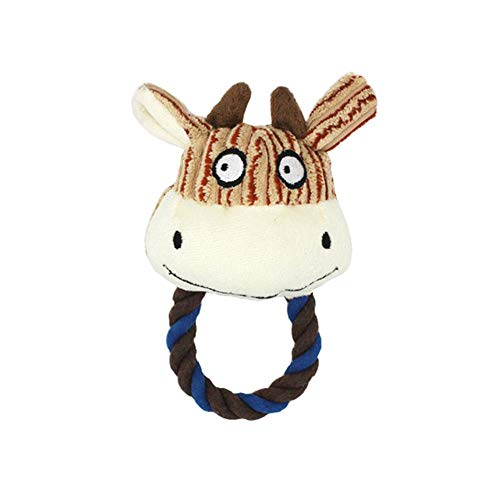 ZWQ ZWQAnimals Shape Squeaker Pet Dog Chew Toys para Perros pequeños Accesorios para MascotasPuppy Toys Dog Supplies, Cow Head, S