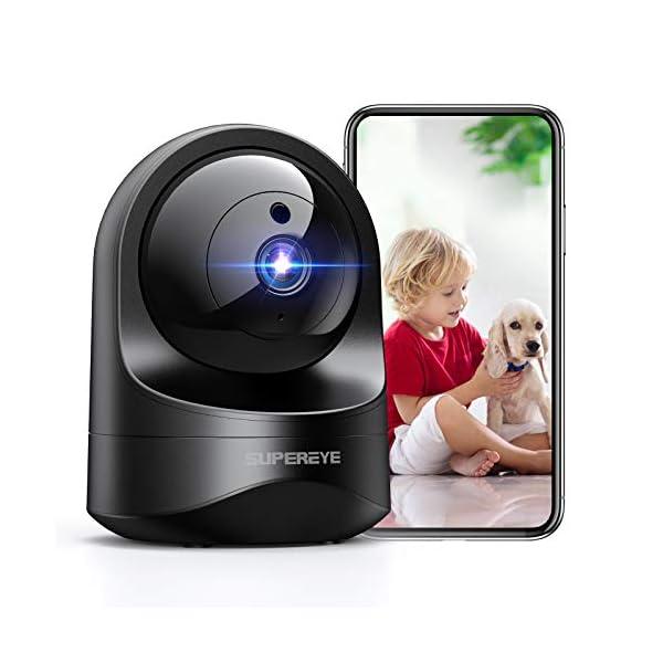 Telecamera ip wifi supereye, telecamera di sorveglianza wifi 1080p rilevamento movimento e notturna comp alexa D3 EU