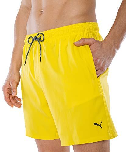 PUMA Herren Badehose Badeshorts Summer Deluxe Swim Shorts - gelb - Gr. XL