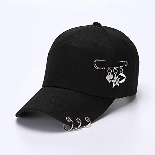 B/H Deportes Unisex Adjustable Gorras Beisbol,Gorra de Mujer Personalizada, Gorra de Sol con Anillo de Hierro, Solar Casuales Gorras Libre de Protección