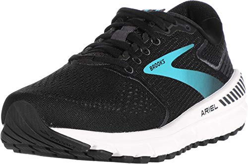 Brooks Damen Ariel '20 Laufschuh, Black/Ebony/Blue, 38.5 EU