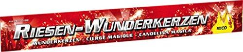 100 XXL Riesen Wunderkerzen Nico Feuerwerk a 45cm ca. je 90 Sekunden Brenndauer