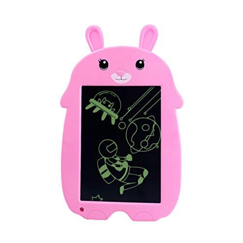 LIOOBO Tableta de Escritura LCD de 8.5 Pulgadas Tablero de Escritura Portátil Animal de Dibujos Animados Ambiental Animal Tableros de Dibujo Almohadillas de Borrador con Lápiz para Niños Rosa
