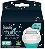 8x Wilkinson Intuition Naturals Sensitiv Care 3 Rasierklingen mit Seife und Aloe -