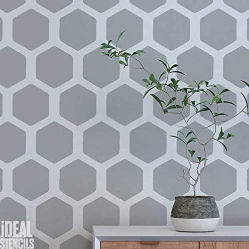 Bienenwabe Muster Schablone Heim Wand Dekorieren